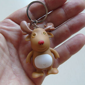 Festive Reindeer Torch and Key Ring