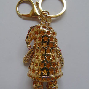 Bling Father Christmas Key Ring