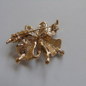 Bling Christmas Double Bells Brooch