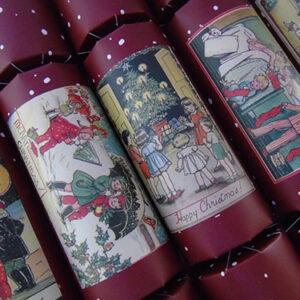 Christmas Postcard Crackers