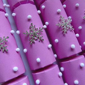 Fresh Pink Snowflake Crackers
