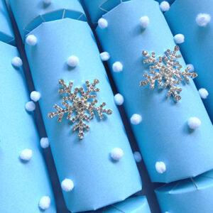 Sky Blue Snowflake Crackers