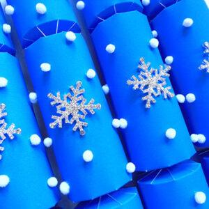 Ultra Blue Snowflake Cracker