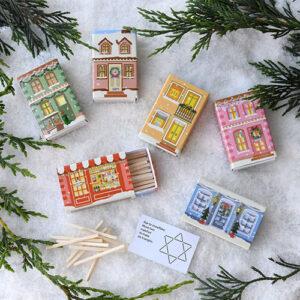 Christmas Matchbox Village – (set of six)