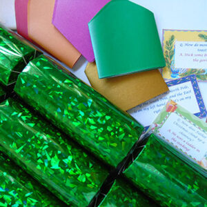 Green Holographic Christmas Cracker