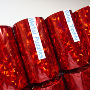 Red Holographic Christmas Cracker
